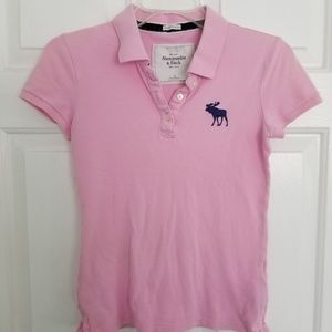 SMALL Pink Abercrombie and Fitch Polo